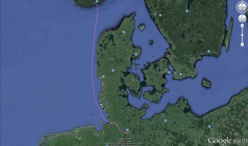 Route Arctic Sunrise